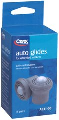Carex Auto Glides for Walkers 1 1/8'', Pack of 6