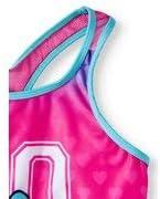 7//8 Girls JoJo Siwa Swimsuit One Piece UPF50 Pink//Blue