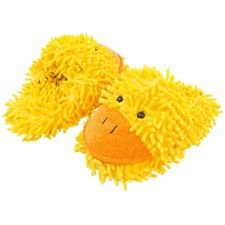 Yellow Duck Slippers (Aroma Home Fuzzy Friends Duck Slipper, Large, Yellow)