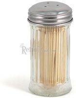 Tablecraft Products Glass Toothpick Dispenser with Picks