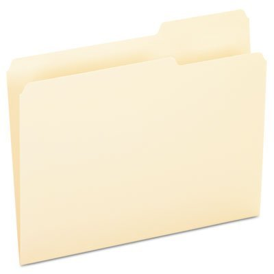 File Folders, 1/3 Cut, Third Position, Top Tab, Letter, Manila, 100/Box, Sold as 100 Each