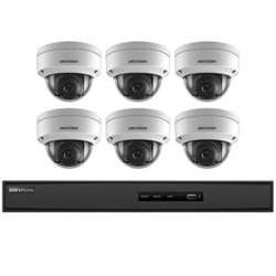 Hikvision USA I7608N2TA Hikvision Kit, 8 Ch Nvr with Poe, 2 Tb Storage, Six 2Mp Outdoor Dome W 2.8Mm Lens, H.264+ by Hikvision