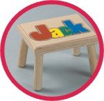 Personalized Wooden Children's Name Stool by Hollowwoodworks