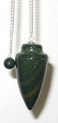 Azure Green GPENB Pendulum Bloodstone Gemstone (Pendulum Bloodstone)