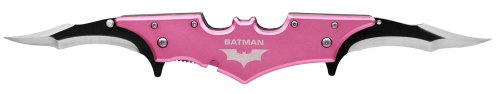 BATMAN Double Blade Batman bat FOLDING POCKET Knife – Pink, Outdoor Stuffs
