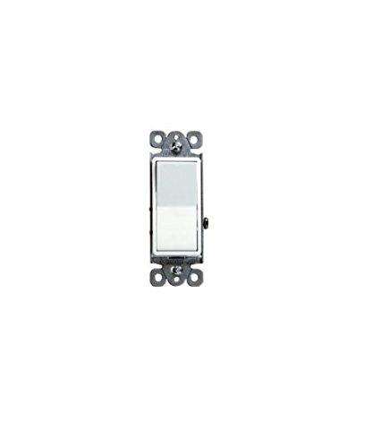 15A Switch 3 Way /SPST Lighted Illuminated Rocker Light Switch (White) -