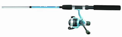 Okuma Steeler Spinning Rod and Reel Combo, 6-1/2-Inch, Blue Finish Review