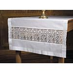US Gifts Latin Cross and IHS Lace Altar Runner by US Gifts