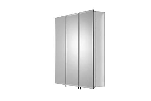 Croydex WC101769AZ Grove Triple Door Tri-View Cabinet, 26-Inch x 24-Inch ()