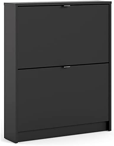 Tvilum, Black Matte Bright 2 Drawer Shoe Cabinet