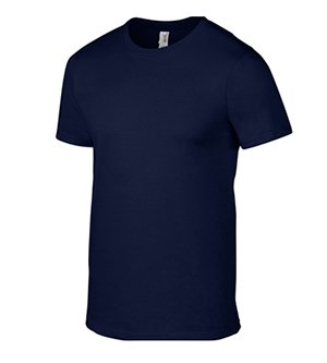 Anvil Men's Fashion-Fit Tee - Navy - XL