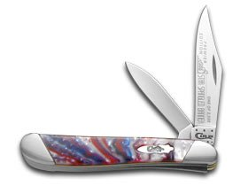 Case Cutlery S9220STAR Peanut Pocket Knife, Small, Star Spangled Banner