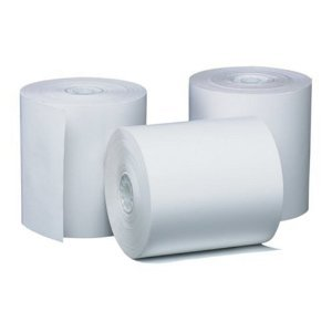Greenleaf Calculator POS Receipt Thermal Paper Rolls (3 Rolls - White) - 3 1/8 Inch x 230 ft - Used in Axiom/Bixolon/Citizen/Epson/IBM/Olivetti/VeriFone/Samsung POS Printers and Cash Registers