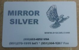 Zebra Silver Mirror Image Specialty Ribbon, 1000 prints - P330i, P420i, P430i, P520i