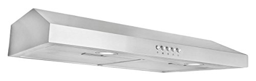 Cosmo COS-5U30 30 in. Under Cabinet Range Hood with Push Button Controls, LED Lighting and Long Lasting Filters