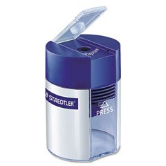 (Staedtler Handheld Manual Single-Hole Cylinder Pencil Sharpener, Blue/Silver (STD511001A6) Category: Pencil Sharpeners)