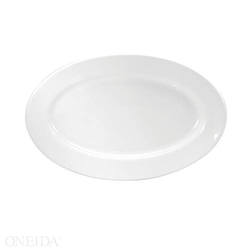 - Buffalo Cream White Rolled Edge Platter, 11 1/2 inch - 12 per case.