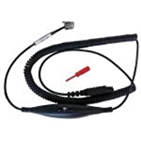 HIS Cord for Plantronics QD Compatible Headsets on Avaya 9600 & 1600 Series phones - with volume control
