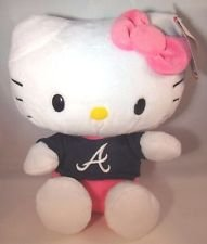 FOCO MLB Atlanta Braves 8 Shirtable Hello Kitty Plush