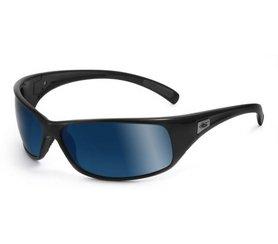 BOLLE retroceso gafas de sol (polarizadas OFF SHORE lentes azules brillante montura de color negro