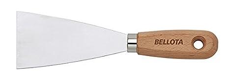 Bellota 5893-60 Espátula de acero inoxidable mango madera, 60 mm