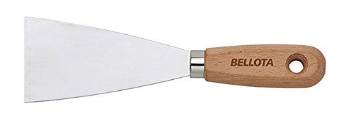 Bellota 5893-100 Espátula de acero inoxidable mango madera, 100 mm