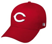 MLB ADULT Cincinnati REDS Home ALL RED Hat Cap Adjustable Velcro TWILL