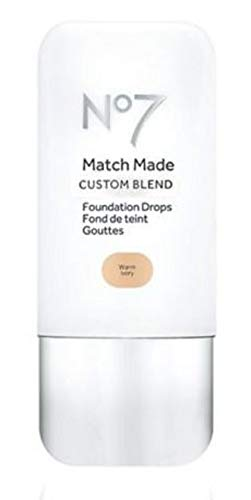 Exclusive New No7 Match Made CUSTOM BLEND Foundation Drops SOLD BY PENTA0601 Warm Ivory