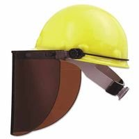 High Performance Faceshield Hat Adapters, Cap Style, Plastic, For P2/E2 (11 Pack)