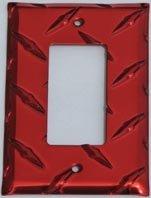 Diamond GFI Cover Single - Red