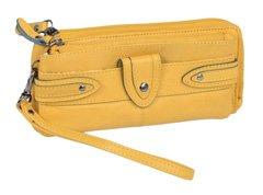 Borsetta da polso Portafoglio Donna LEAS, Vera Pelle, giallo - ''LEAS Ladies-Collection''