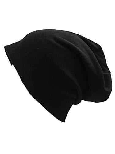 Stars Black Beanie - Century Star Unisex Baggy Lightweight Hip-Hop Soft Cotton Slouchy Stretch Beanie Hat Black