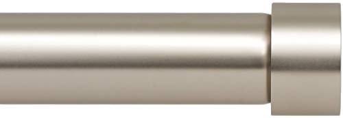 Ivilon Drapery Window Curtain Rod - End Cap Style Design 1 Inch Pole. 72 to 144 Inch Color Satin Nickel
