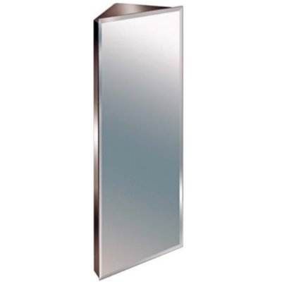 Mobiletto Angolare Bagno In Acciaio Inox Con Specchio 900 Mm