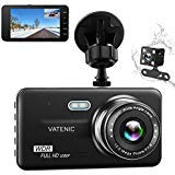 Dual Dash Cam Car Dashboard Camera Recorder FHD 1080P Front And Rear Cameras ,Driving loop Recording ,4.0