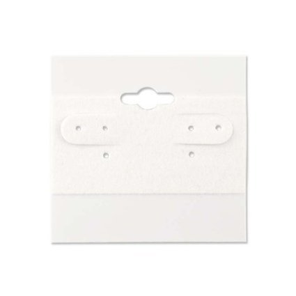 - Earring Display Hang Cards White Flocked 1 1/2 X 1 1/2 Inch (100)