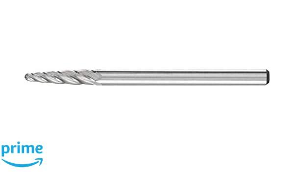 1-1//2 Head Length SF-15 Radius End 1//4 Shank Uncoated PFERD Tree Carbide Bur Double Cut Bright Finish 3//4 Head Diameter