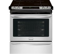 "Frigidaire FGIS3065PF 30"" Slide-In Electric Range with Induction Technology, True Convection Oven in Smudge-Proof Stainless Steel with Black Top"