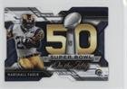 Marshall Faulk (Football Card) 2015 Topps Chrome Mini - Super Bowl 50 Die-Cut #SBDC-MF