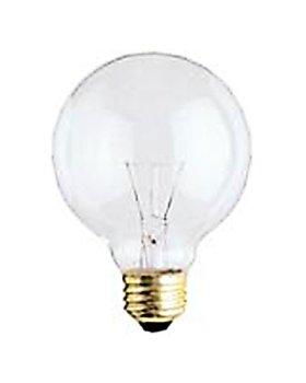 Bulbrite 331040 - 40G25CL3 - 40 Watt G25 Clear Incandescent Globe Light Bulb, 130 Volt Long Life