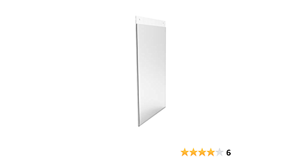 Amazon Com Fixturedisplays 8 5x14 Wall Mount Sign Holder Clear Acrylic Picture Frame Single Side Image Holder Vertical 12061 8 5x14 Nf Peel Off Protective Film White Before Use Office Products