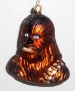 Radko Star War's Chewbacca Hanging Glass  Ornament