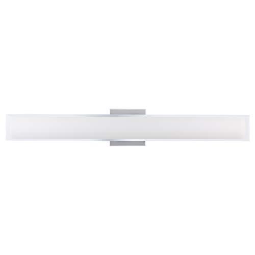 Portico 30 inch Integrated LED Bathroom Vanity Lights | Chrome Bathroom Light LL-SC86BN-30-PC
