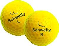 Pair of Schwetty Balls - Yellow - Golf Ball Award