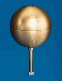 Gold Anodized Aluminum Flagpole Ball Ornament - 4in