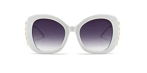 (Women Cateye Sunglasses Oversized Vintage Retro Bold Fashion Designer Shades (White, 70))