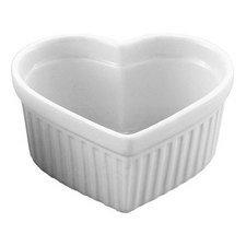 HIC Porcelain 6 oz Heart Souffle Dish, 1 ea - Heart Ramekin
