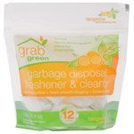 Grab Green Garbage Disposal Freshener & Cleaners Tangerine with Lemongrass Pre-Measured Pods 12 count