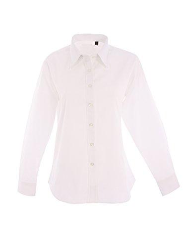 Oxford Longues UC703 Noir Uniforme Travail Vtements Pinpoint Manches 2XL Blanc Travail Chemise De Femmes TwxFnqZ5v