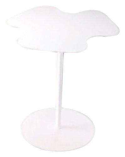 Lookboard 173021 M-M306 Flower Power Side Table, White